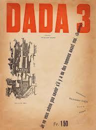 チューリッヒ・ダダ機関誌『DADA3』表紙(早稲田大学図書館蔵書)