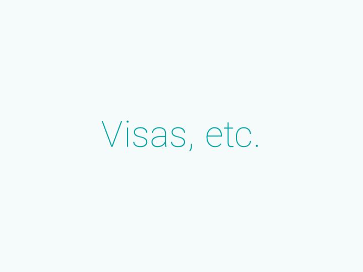 在留資格/ VISAについて