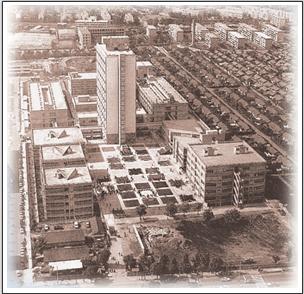 竣工当時の大久保キャンパス