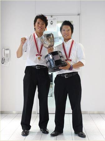 左:江畑選手、右:小泉選手