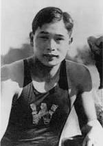 アムステルダム大会では 100m自由形3位の高石勝男