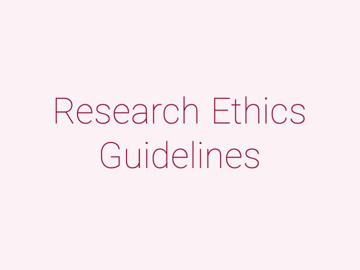 研究調査倫理ガイドライン