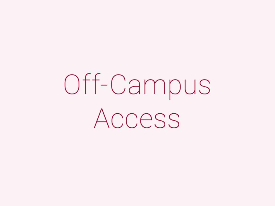Off-Campus Access – Waseda University Library,Waseda University