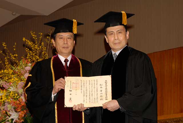 鎌田総長と松本幸四郎丈