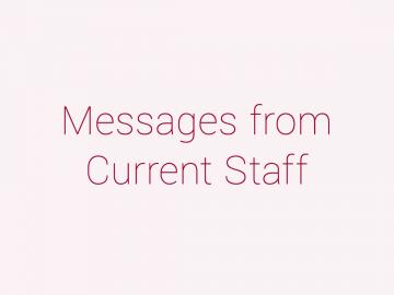 先輩職員からのメッセージ