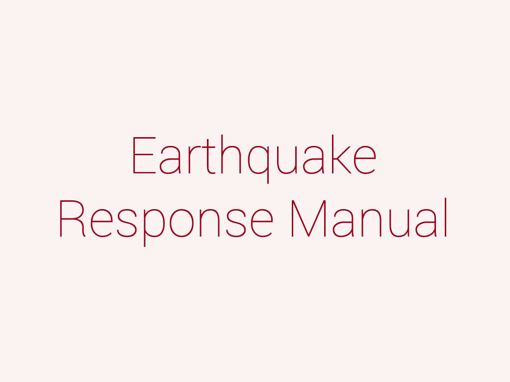 Earthquake Response Manual For Students – Waseda University