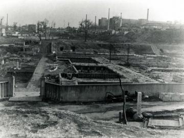 罹災した第一早稲田高等学院(1945年5月)