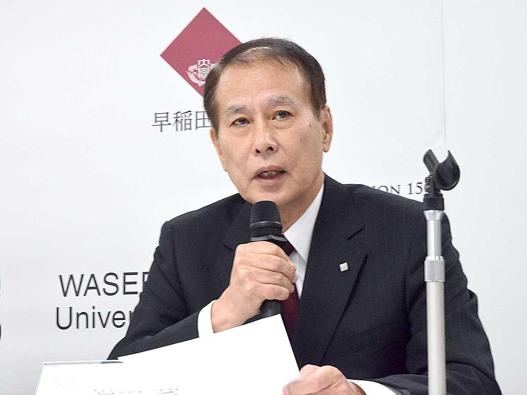 鎌田総長より入試改革の理念と方向性を伝えました。