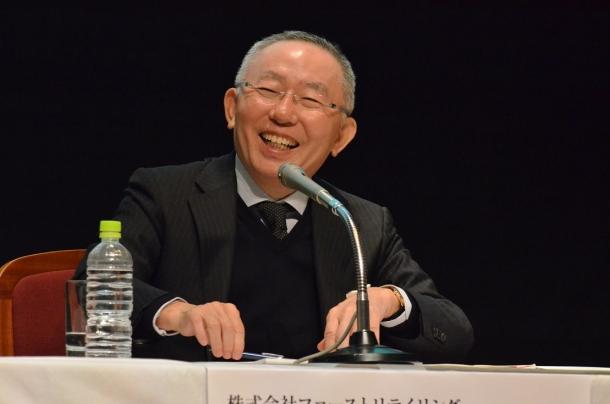 参加者からの質問に答える柳井社長