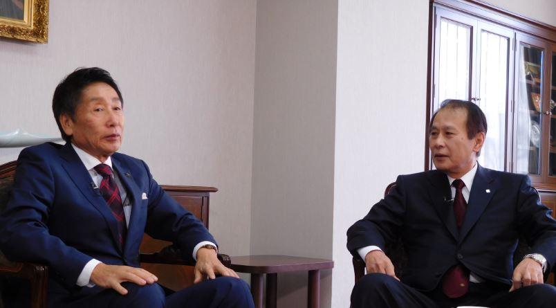 左:細江市長 右:鎌田総長