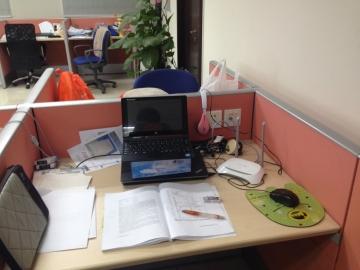 早稲田の北京事務所のPCルーム。北山さんはここで勉強に励んだ。