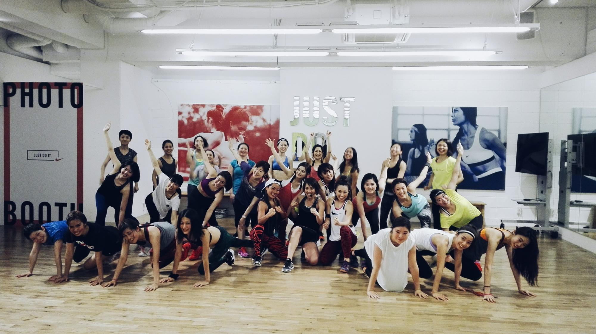 Nike Training Club's pop-up studio in Shibuya