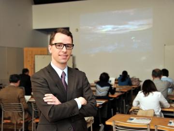 Halldor Elis Olafsson , Trade Representative of Iceland embassy, at Eco plaza, Hamamatsucho on March 27, 2015. CM Fujii. YOSHIAKI MIURA PHOTO