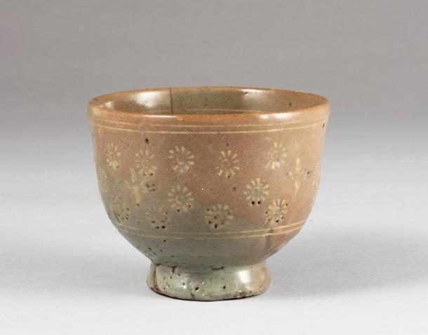 「雲鶴茶碗 銘〈栗〉」朝鮮時代