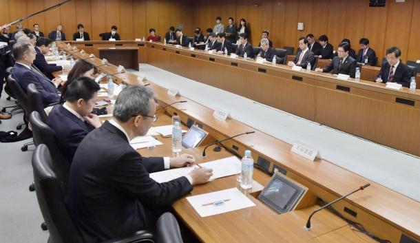 地方大学の振興及び若者雇用等に関する有識者会議 写真:共同通信社