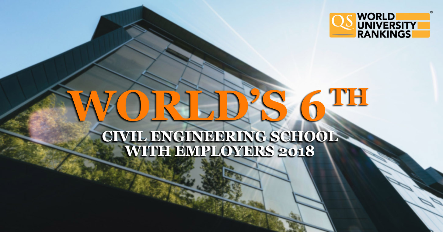 qs top 10 civil engineering schools with employers in 2018で世界6位