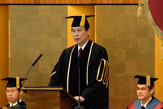 President Kamata's Address: Delivered at Spring 2013 Entrance Ceremony for Undergraduate Students