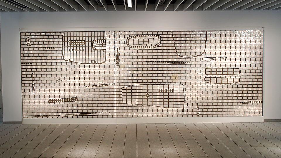 Tile relief by Shindo Tsuji <small> (1960) </small>