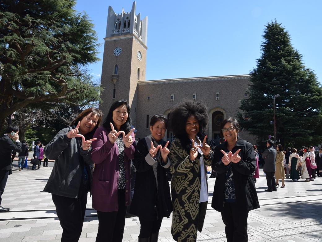 Kokusaibu alumni from USA have 40th reunion at Waseda