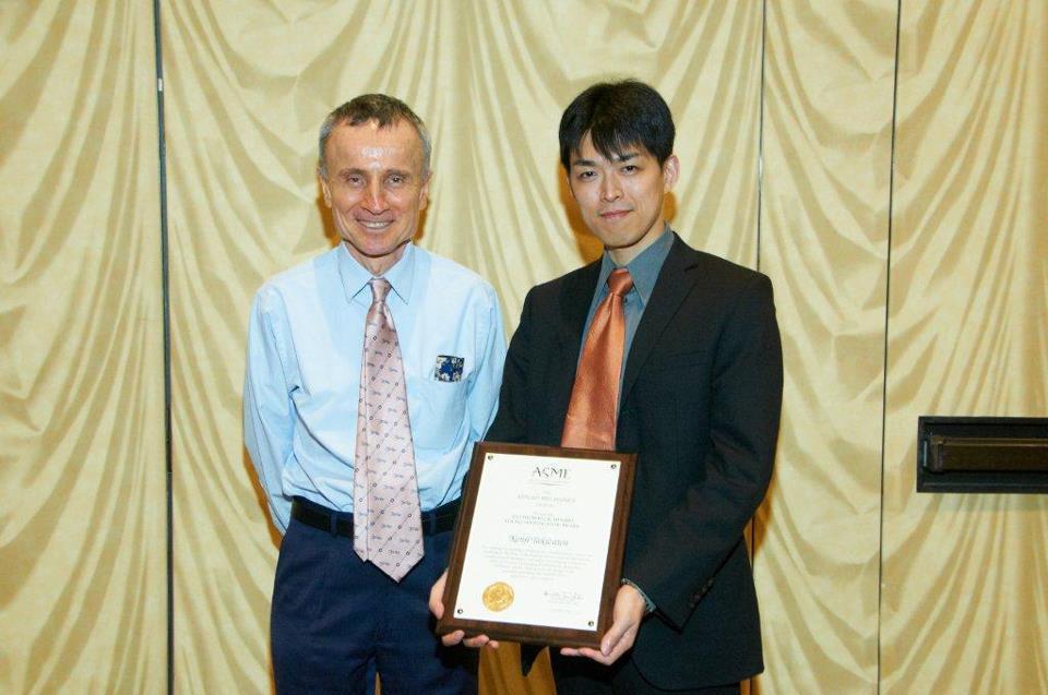 ②Takizawa attended the ASME awards ceremony in Houston