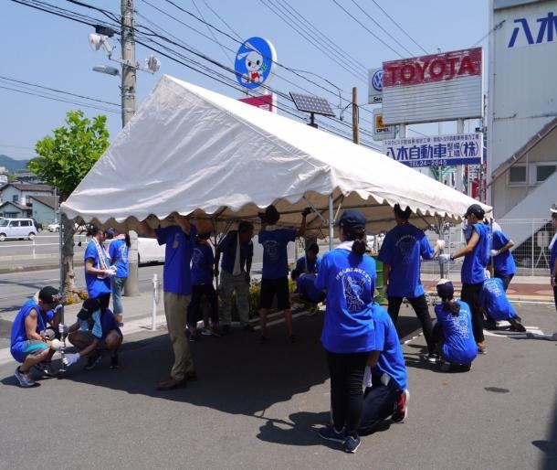 宮城県気仙沼市での「みなとまつり」運営支援の様子